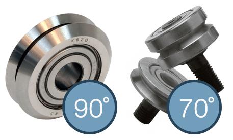 90°V形滚轮与70°V形滚轮的对比