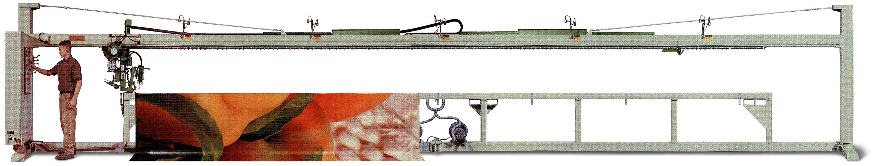 DualVee滚轮导轨在布料焊接机中的应用